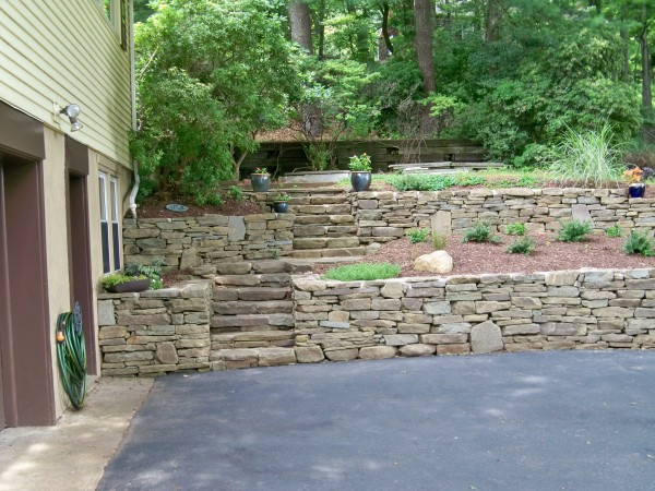 Image of a Tiered Retaining Wall Design - Grandview Landscape